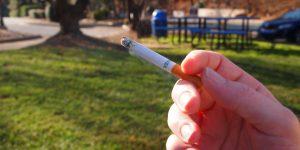 cigarette by park