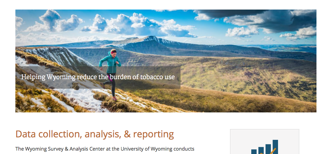 Wyoming Tobacco Prevention & Control Evaluation Webiste