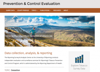 Wyoming Tobacco Prevention & Control Evaluation Webiste