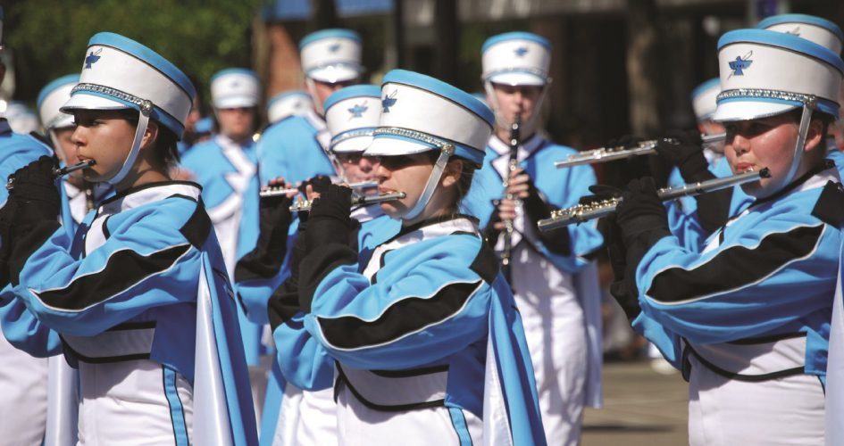 Photo of Cheyenne high school marching band