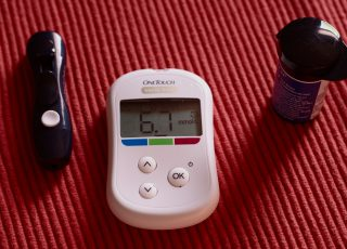 Photo of a diabetes prick test monitor