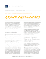 Wyoming's Grand Challenges Summary PDF